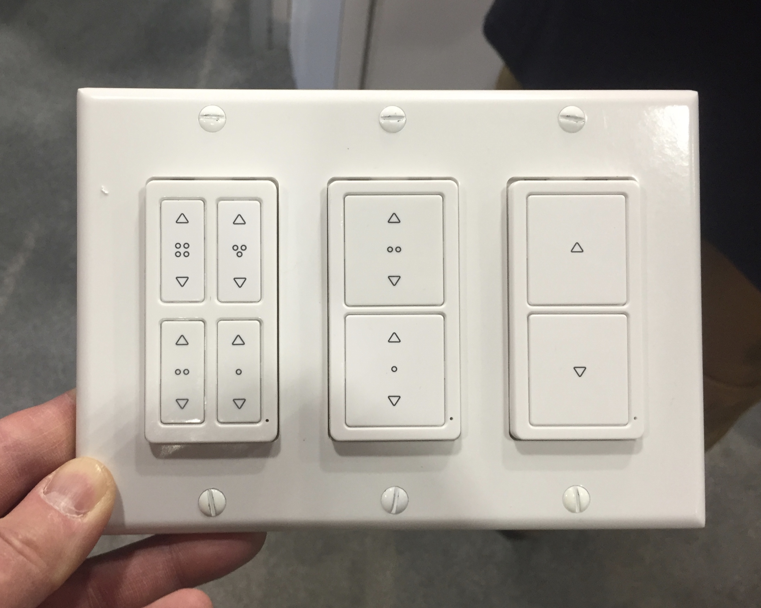 Ge Jasco Shows Off 5 New Z Wave Smart Remotes Tech Tips And Toys Switch Wiring The Remote Switches Look A Lot Like Lutron Pico Are Same Size Shape As Decor Light